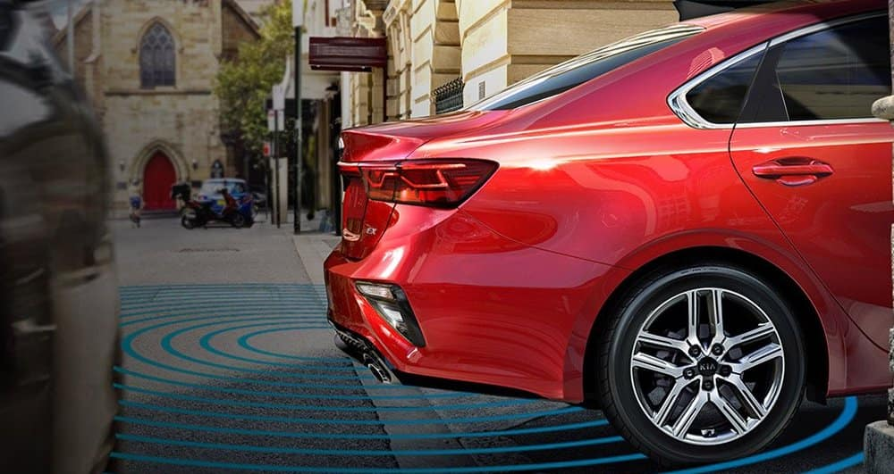 Rear Cross-Traffic Alert on the 2019 Kia Forte.