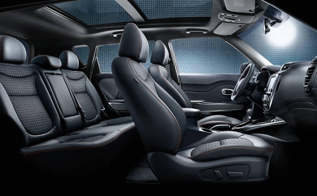 interior cabin of 2019 Kia Soul