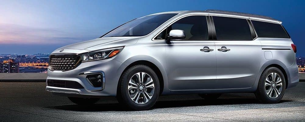 2019 Kia Sedona in Silver at Night