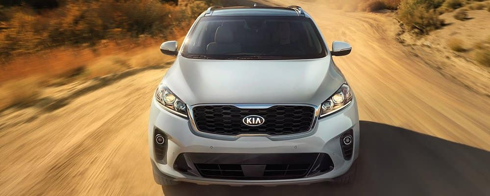 2019 Sorento on a dirt road