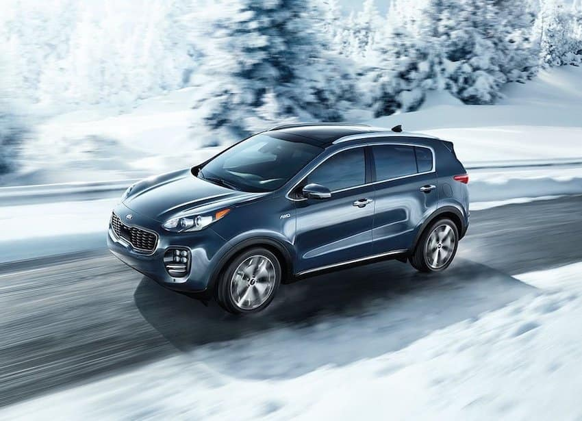 2019 Sportage in the snow