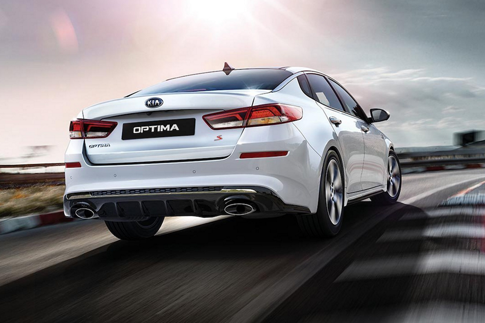 2020 Optima from the rear