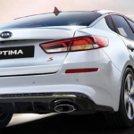 2020 Kia Optima taking a turn