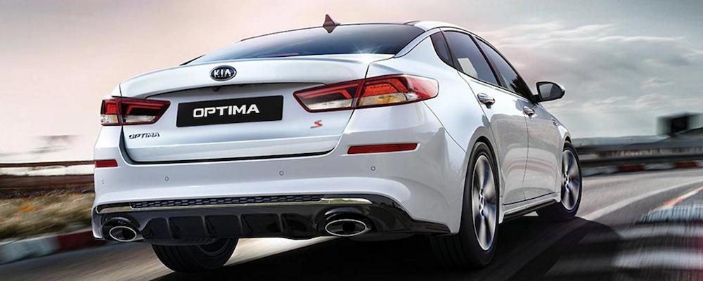 2020 Kia Optima taking a turn