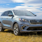2020 Kia Sorento parked in a field