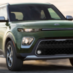 2020 Kia Soul driving on a dirt road