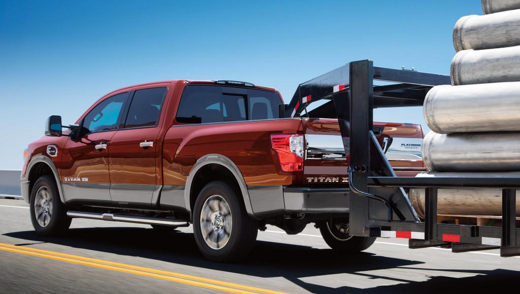 2017 Nissan Titan XD towing