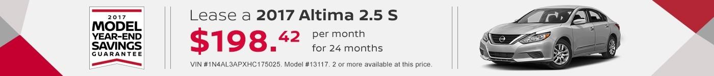 Altima S September Special Jeffrey Nissan