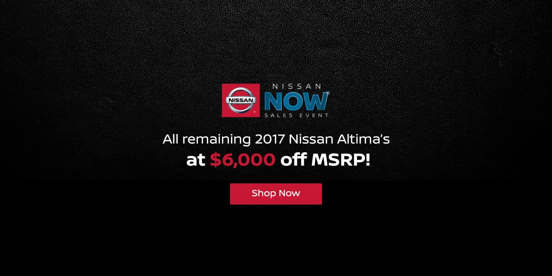 Jeffrey Nissan 2017 Altima $6,000 Off MSRP