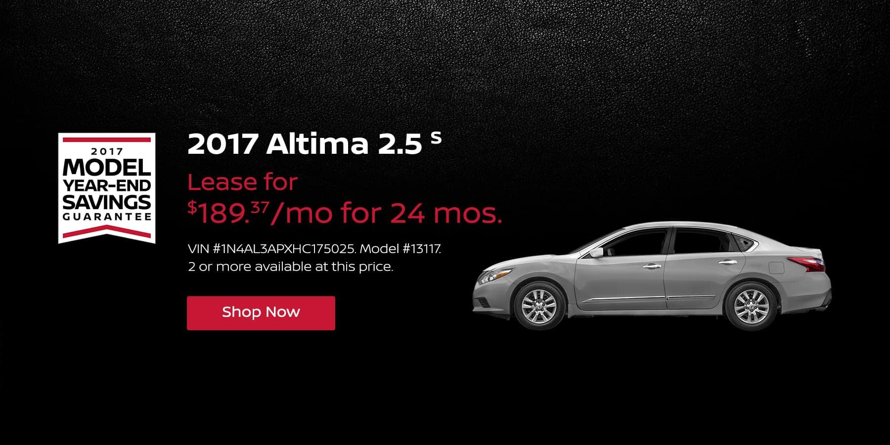 Altima 2.5 S January Offer Jeffrey Nissan