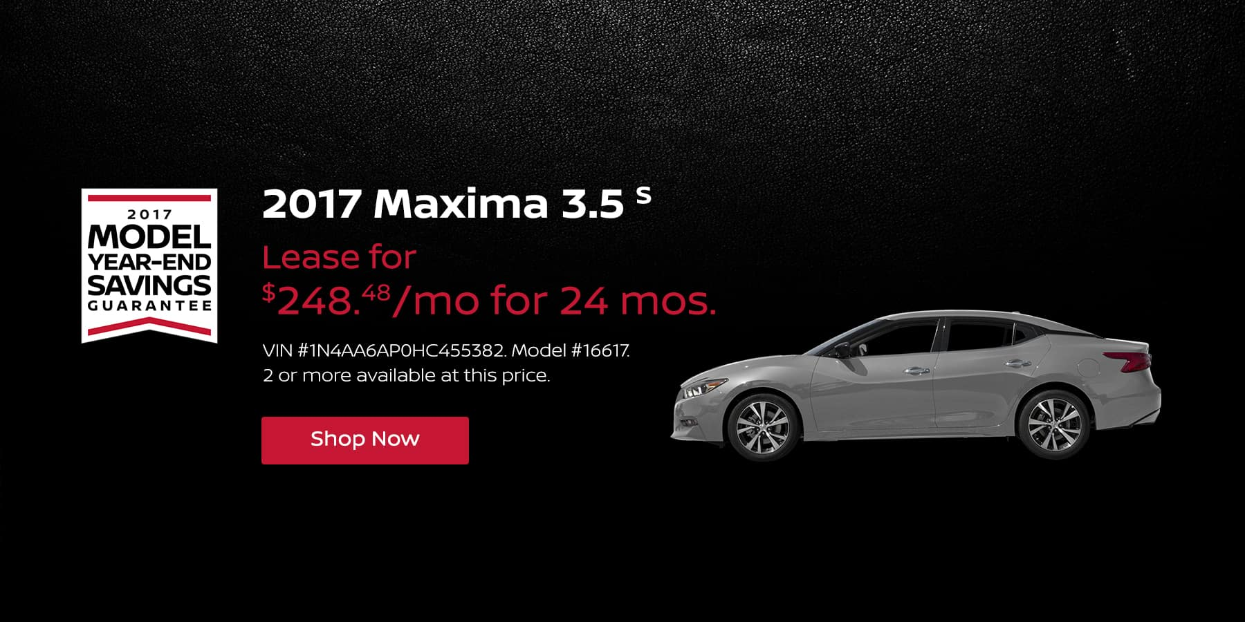 Maxima 3.5 S January Offer Jeffrey Nissan