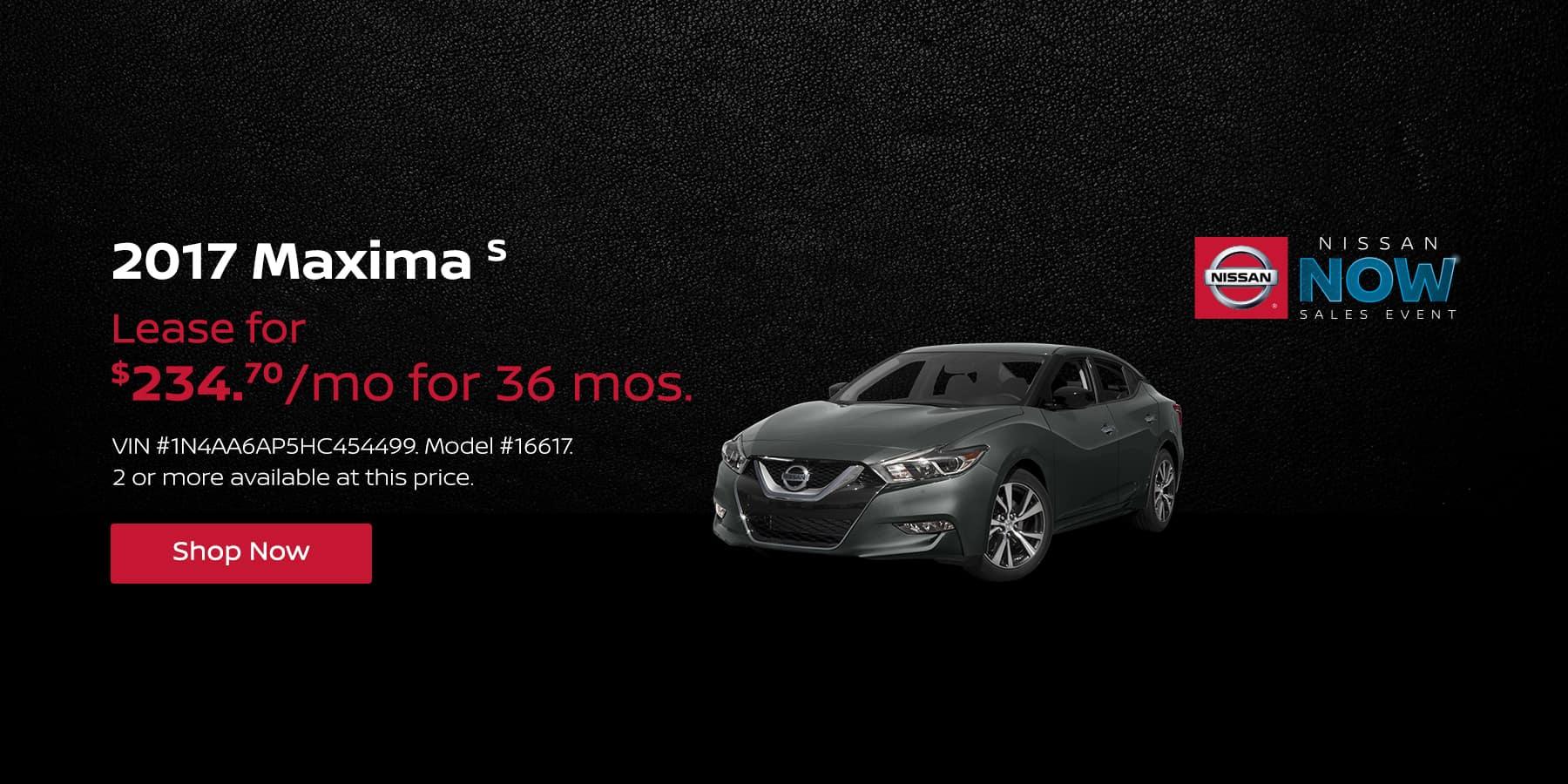 Nissan Maxima February Offer