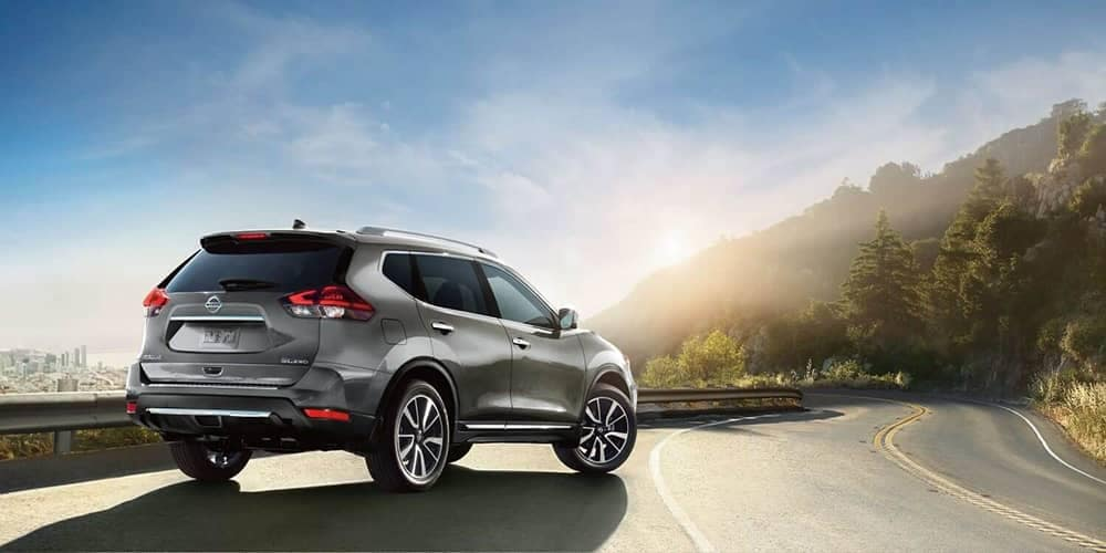 2019 Nissan Rogue parked alongside road