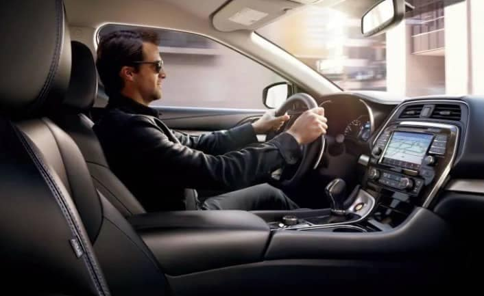 cockpit of 2018 Nissan Maxima
