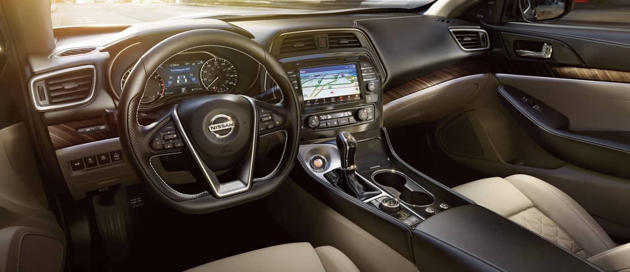 interior cabin of 2018 Nissan Maxima