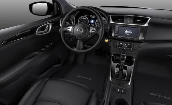 interior cabin of Nissan Sentra