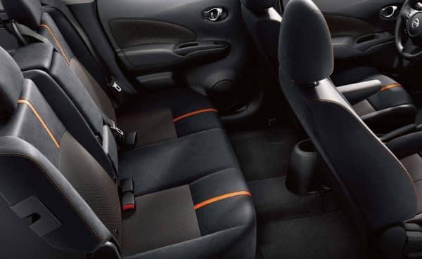 interior space in Nissan Versa Note