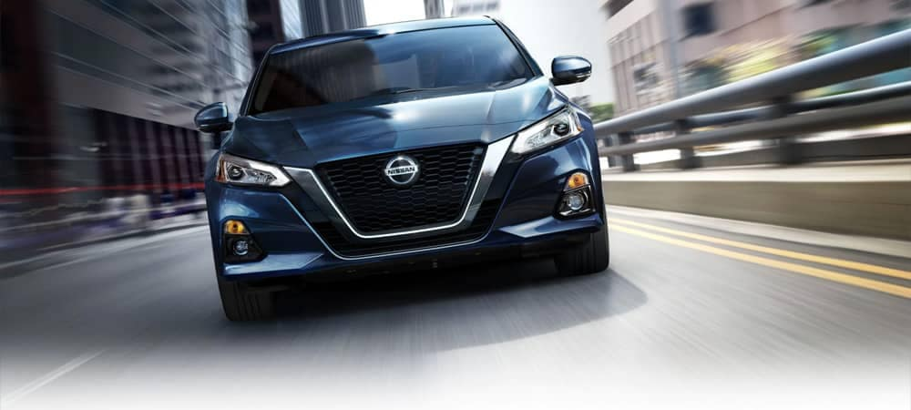 2019 Nissan Altima driving in the city