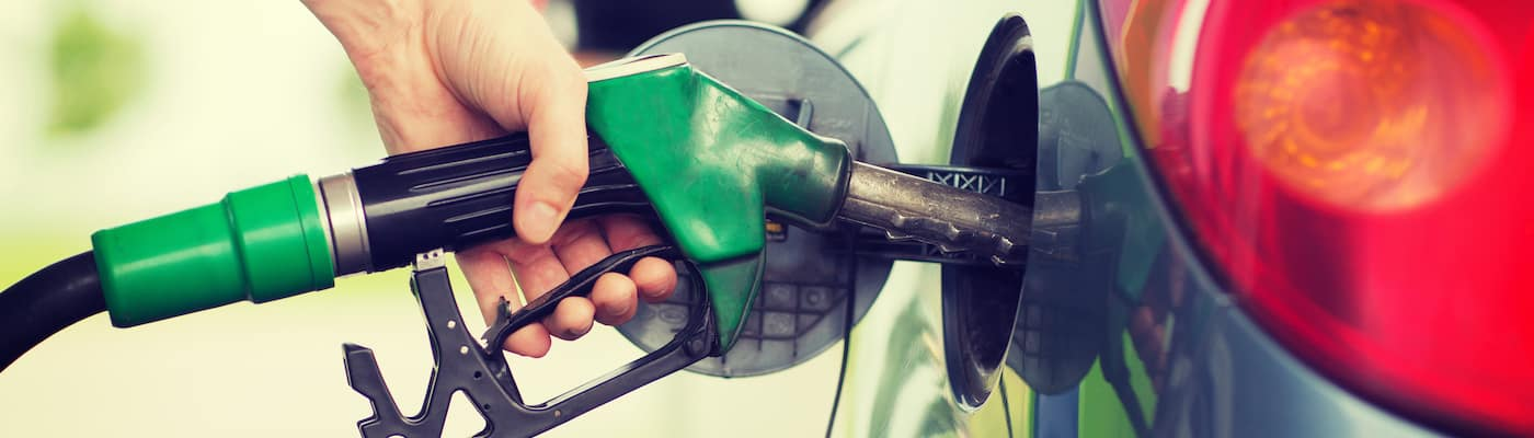 Filling up gas tank