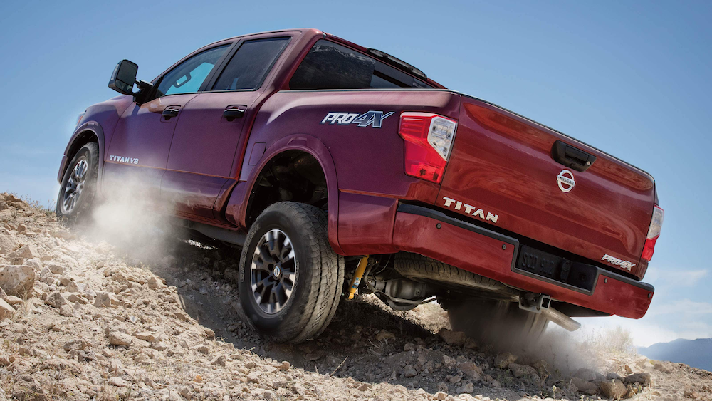 2019 Titan driving in gravel