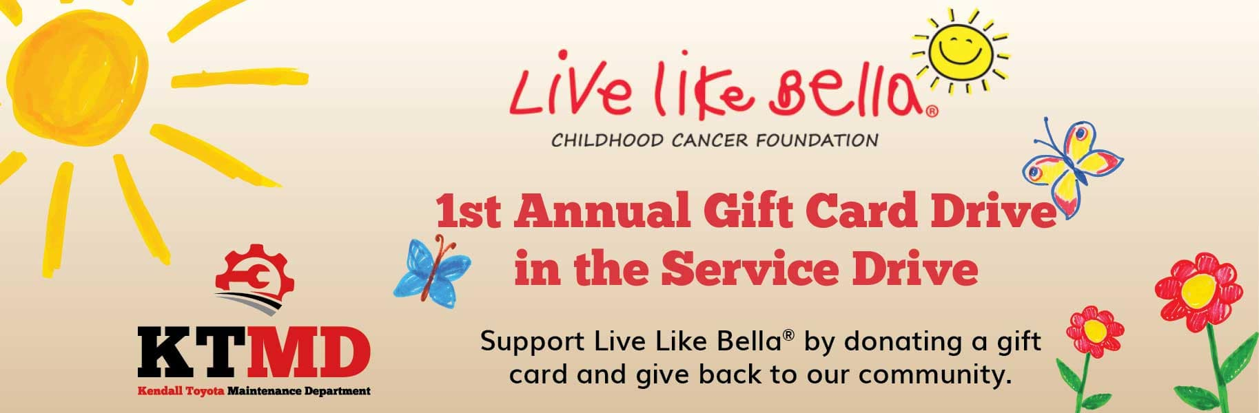 Live Like Bella Gift Card Drive
