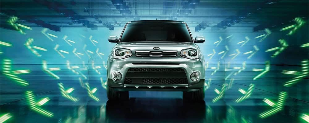 2019 Kia Soul Driving Toward Camera