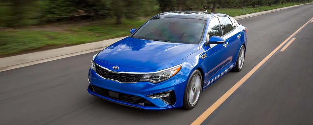 2019 Kia Optima Driving on Road