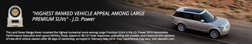 Range Rover JD Power Award