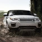 2017 Land Rover Range Rover Evoque rides through water