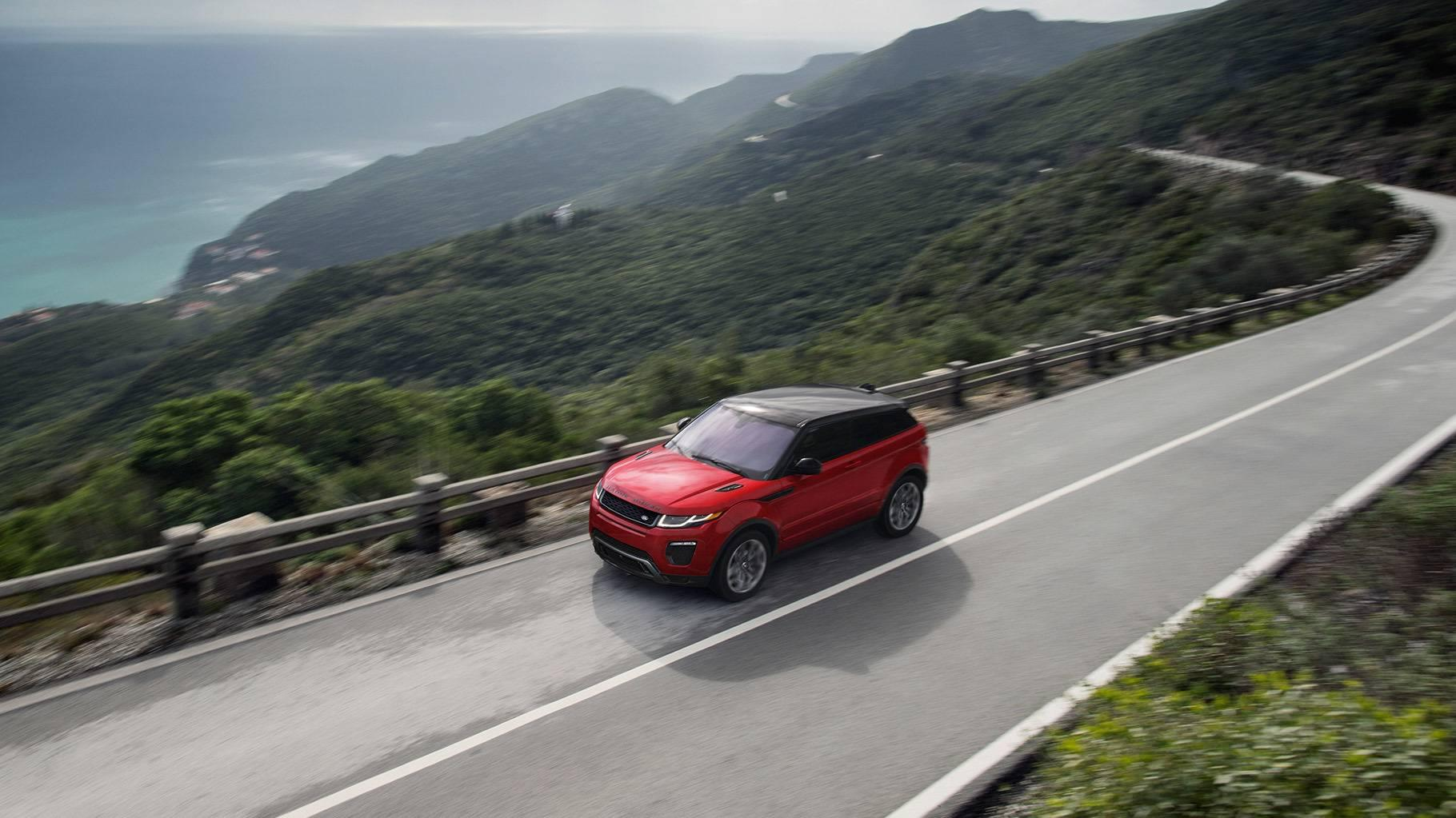 2017 Land Rover Range Rover Evoque Exterior red