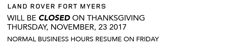 Land Rover Thanksgiving Hours version 2