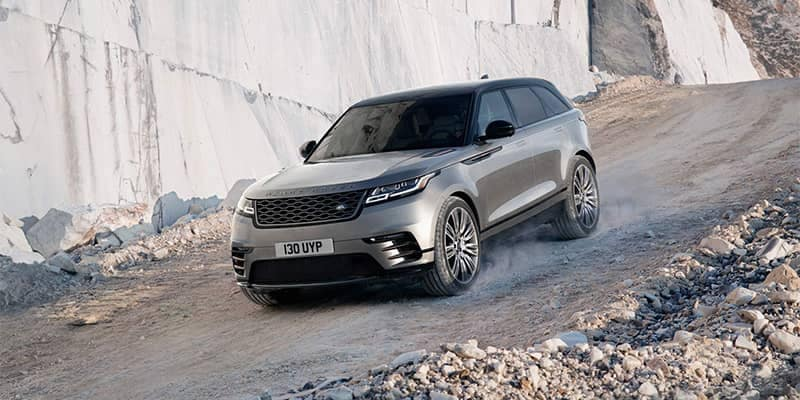2019 Land Rover Range Rover Velar Off-Roading Down Gravel Mountain