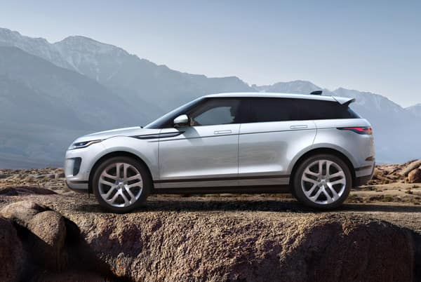 2020 Land Rover Evoque S - White exterior parked in the mountains