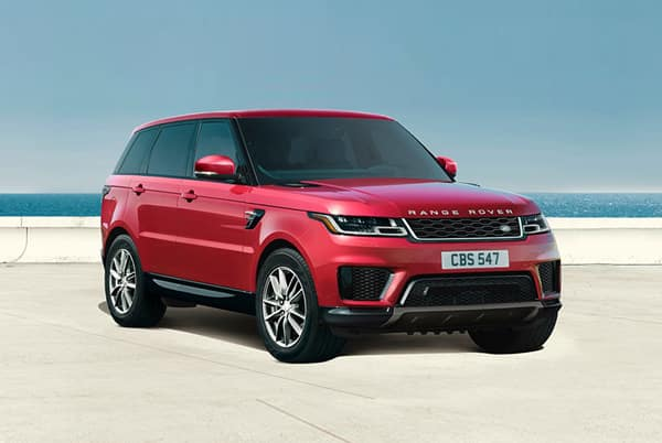 2019 Land Rover Range Rover Sport SE - Red exterior parked by the beach