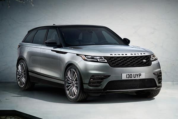 2019 Range Rover Velar S-250P - Silver exterior parked in parking garage