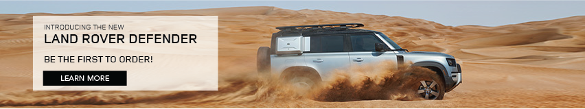 LAND ROVER DEFENDER DRIVING THROUGH DESERT SAND PICKING UP SAND WHILE DRIVING. INTRODUCING THE NEW LAND ROVER DEFENDER. BE THE FIRST TO ORDER. FIND OUT MORE.