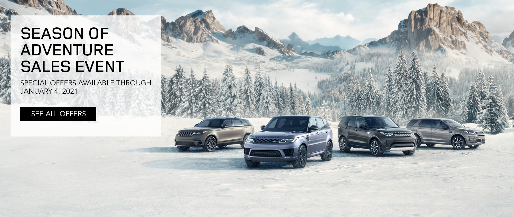 2020 Land Rover Season of Adventure Sales Event