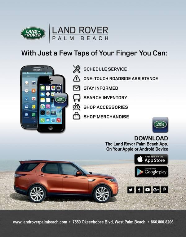 Land Rover Palm Beach Smartphone App