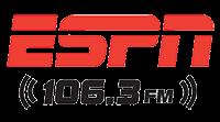 ESPN Radio logo 106.3FM