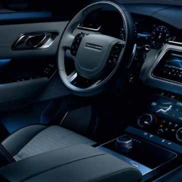 2018 Range Rover Velar Front Interior Features at night