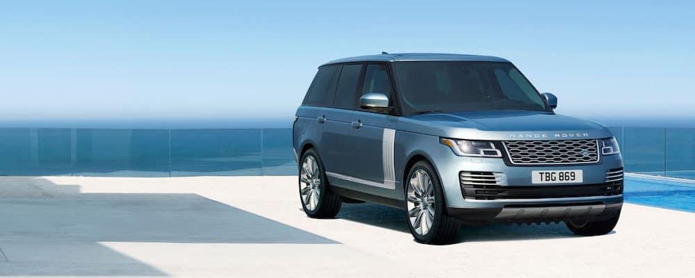 Blue Range Rover Side Shot