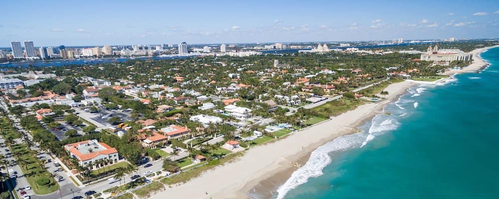 palm beach coastline