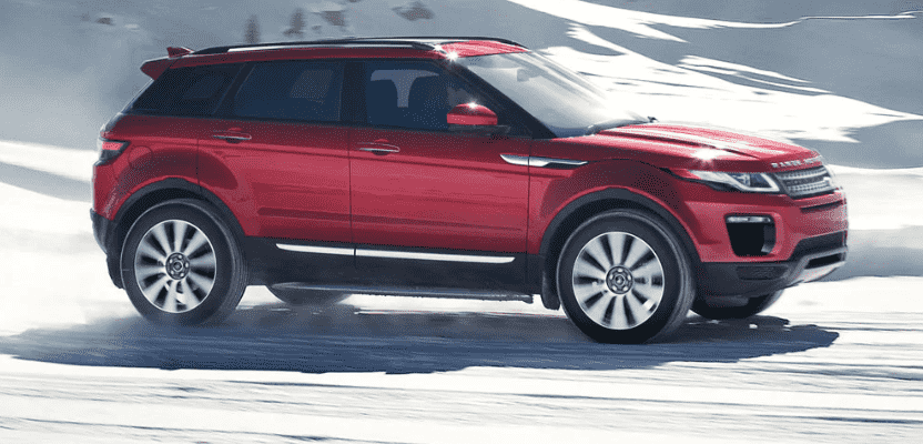 Red 2020 Range Rover Evoque