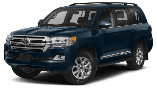Blue Toyota Land Cruiser