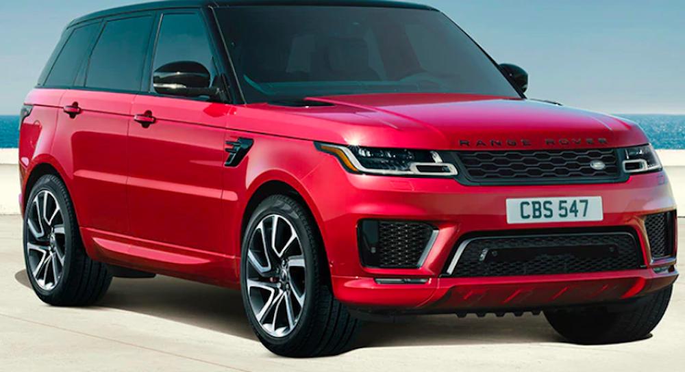 Red Range Rover Sport