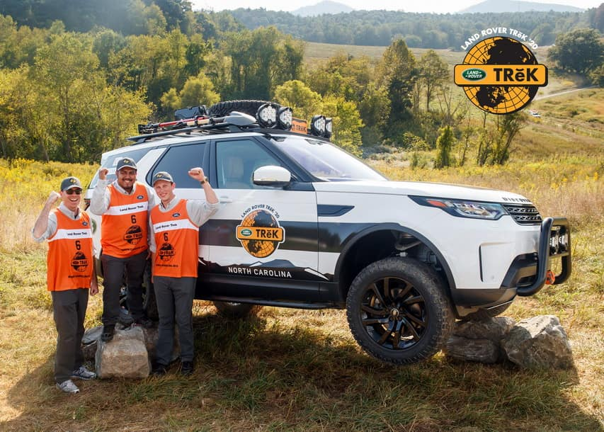 Land Rover Palm Beach Trek team