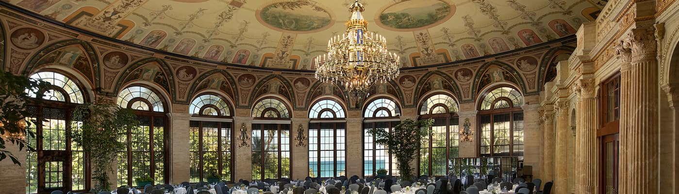 View of the atrium dining area at The Circle at The Breakers