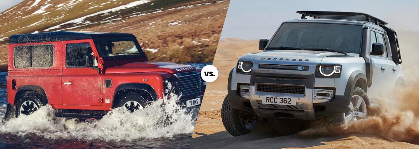 Classic vs. New Land Rover Defender banner