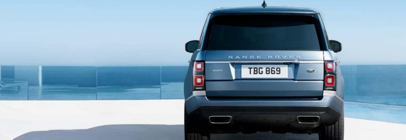 Blue 2019 Land Rover Range Rover PHEV overlooking ocean