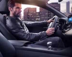 guy driving car